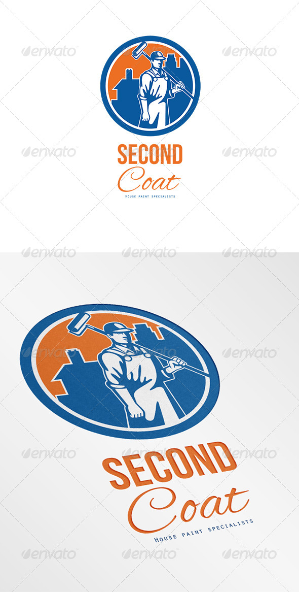 Second Coat House Painter Specialist Logo - Humans Logo Templates