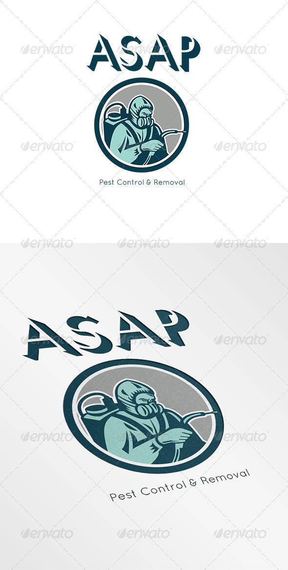 Pest Control Exterminator Logo - Humans Logo Templates