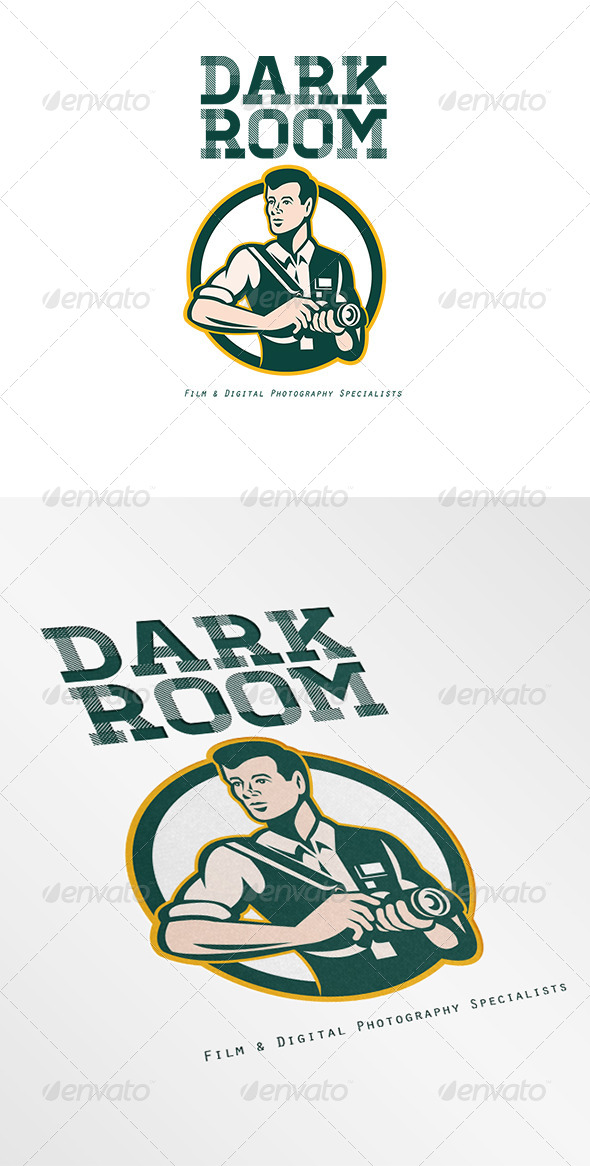 Dark Room Film and Digital Photography Logo - Humans Logo Templates