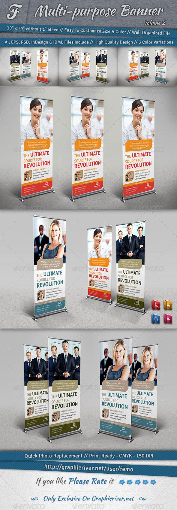 Multi-purpose Banner | Volume 2 - Signage Print Templates