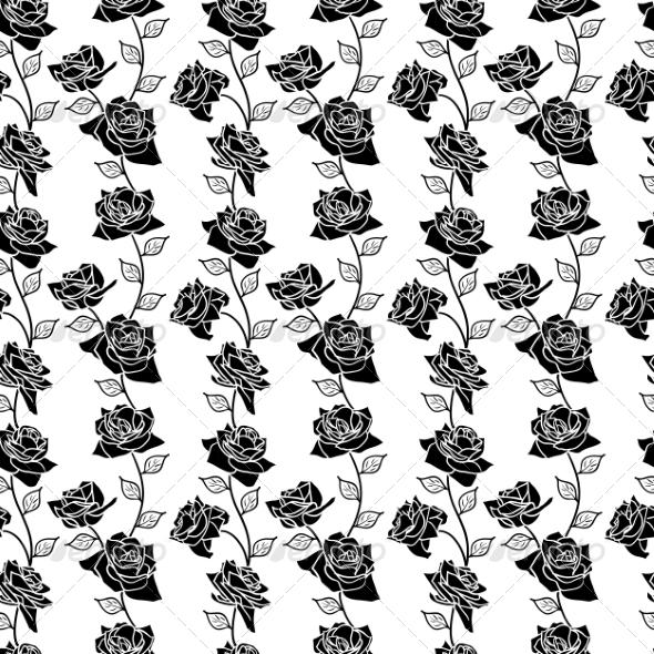 Rose Seamless Pattern - Organic Objects Objects