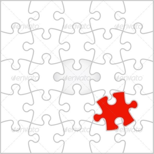 Puzzle Background - Web Elements Vectors