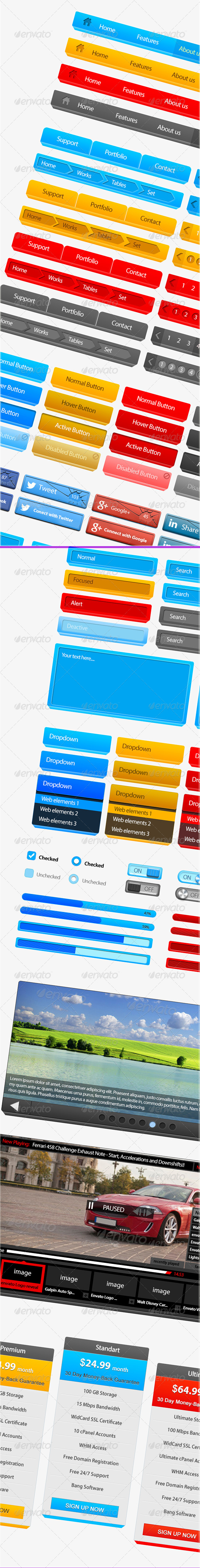 Web UI Kit - User Interfaces Web Elements