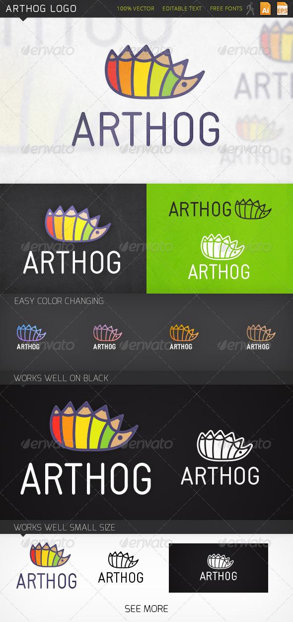 Arthog Hedgehog Logo Template - Animals Logo Templates