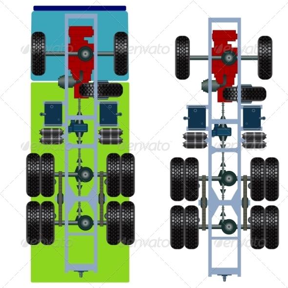 Truck Suspension - Web Elements Vectors