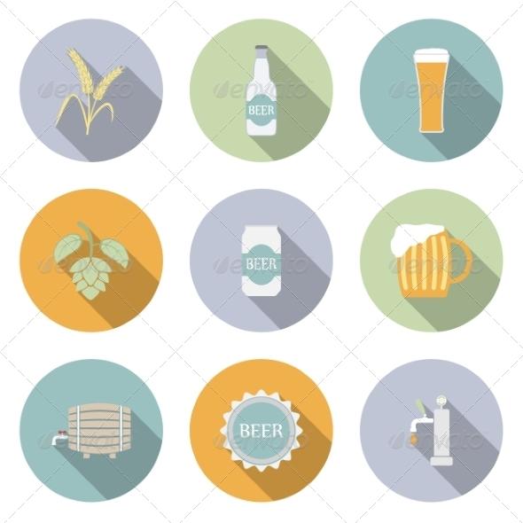 Beer Vector Flat Icons - Web Elements Vectors