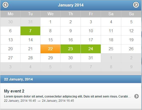 Jquery Mobile Event Calendar By Ubient | Codecanyon