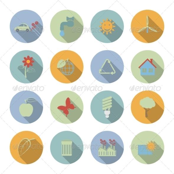 Ecology Icons - Web Elements Vectors