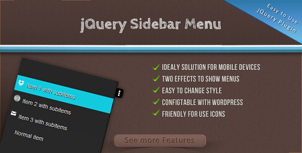 jQuery Sidebar Menu - CodeCanyon Item for Sale