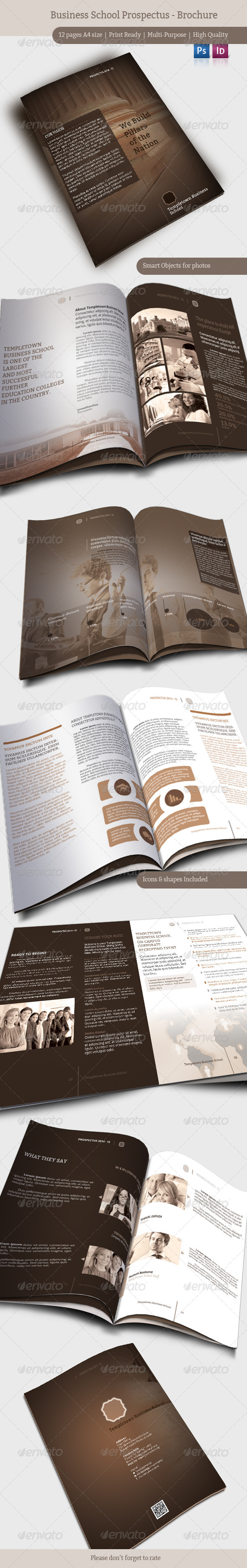 Business School Prospectus - Brochure - Brochures Print Templates