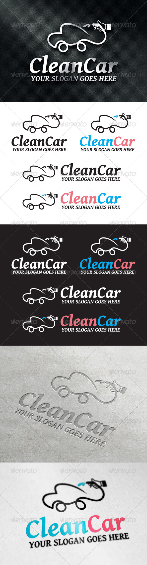 CleanCar Logo - Objects Logo Templates