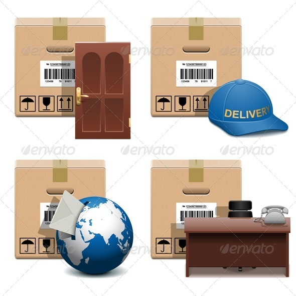 Vector Shipment Icons Set 28 - Industries Business