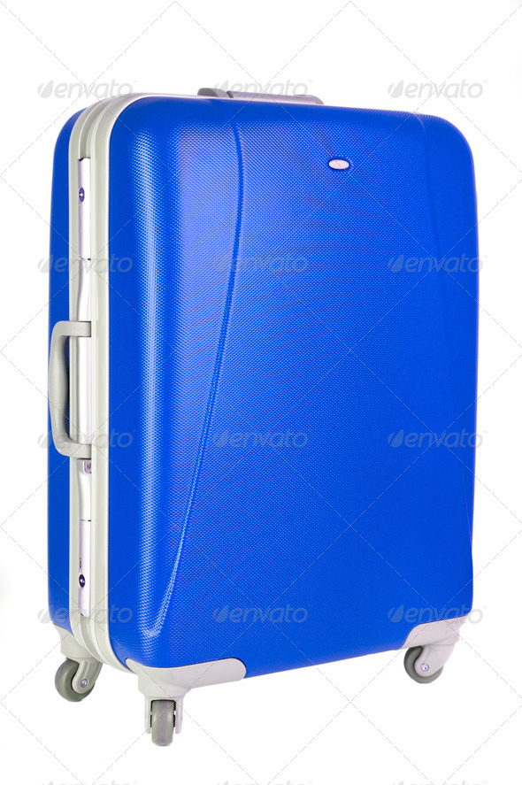 blue suitcase - Stock Photo - Images