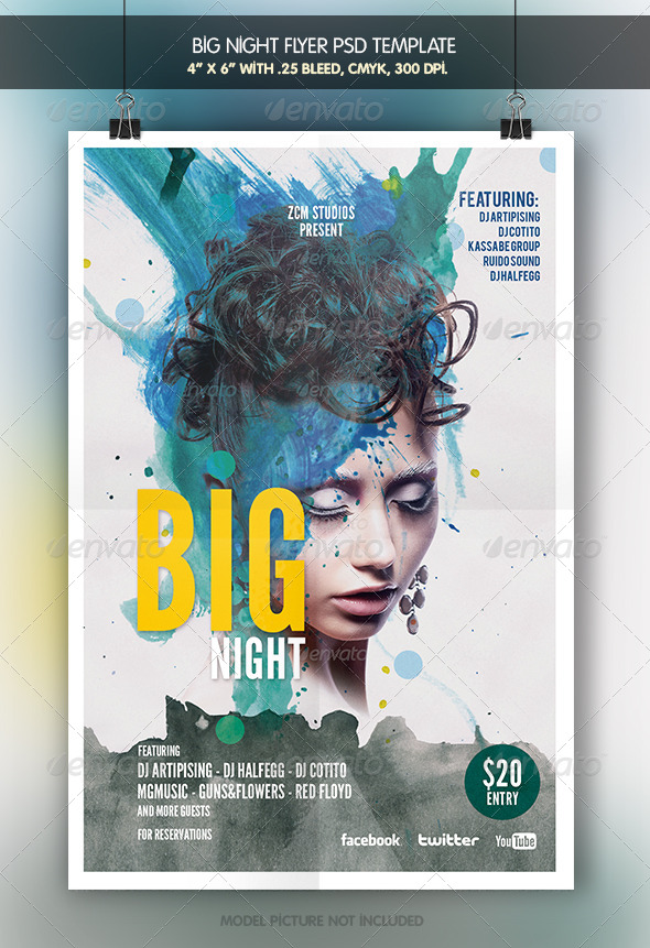 Big Night | Flyer Template - Clubs & Parties Events