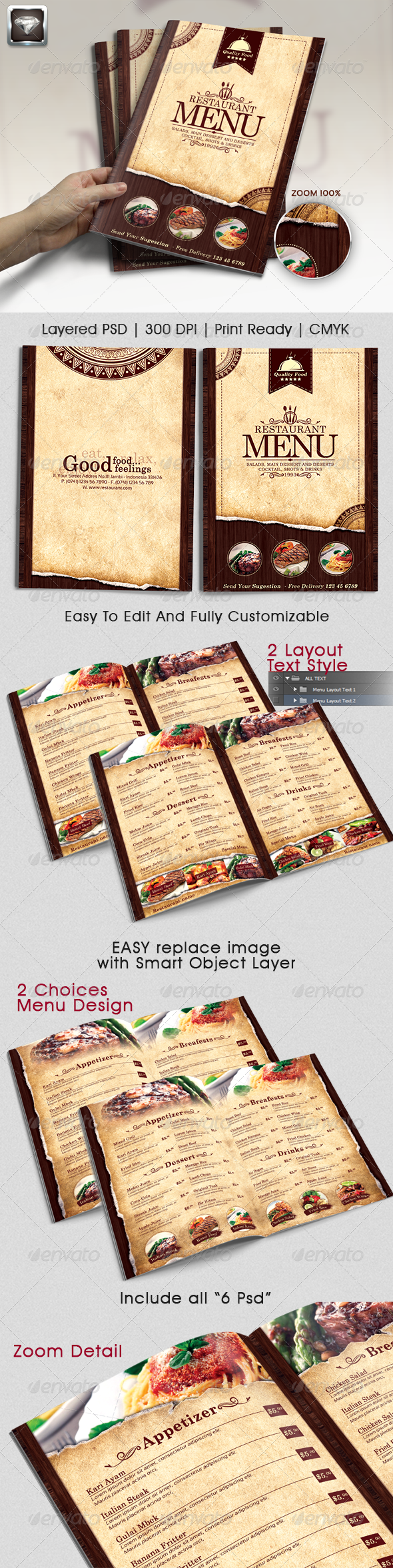 Modern Vintage Restaurant Menu Templates by RiliantDika GraphicRiver