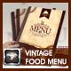 Modern Vintage Restaurant Menu Templates  - GraphicRiver Item for Sale