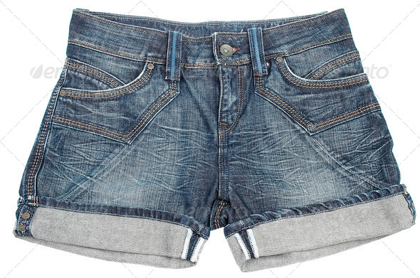 Jeans shorts - Stock Photo - Images