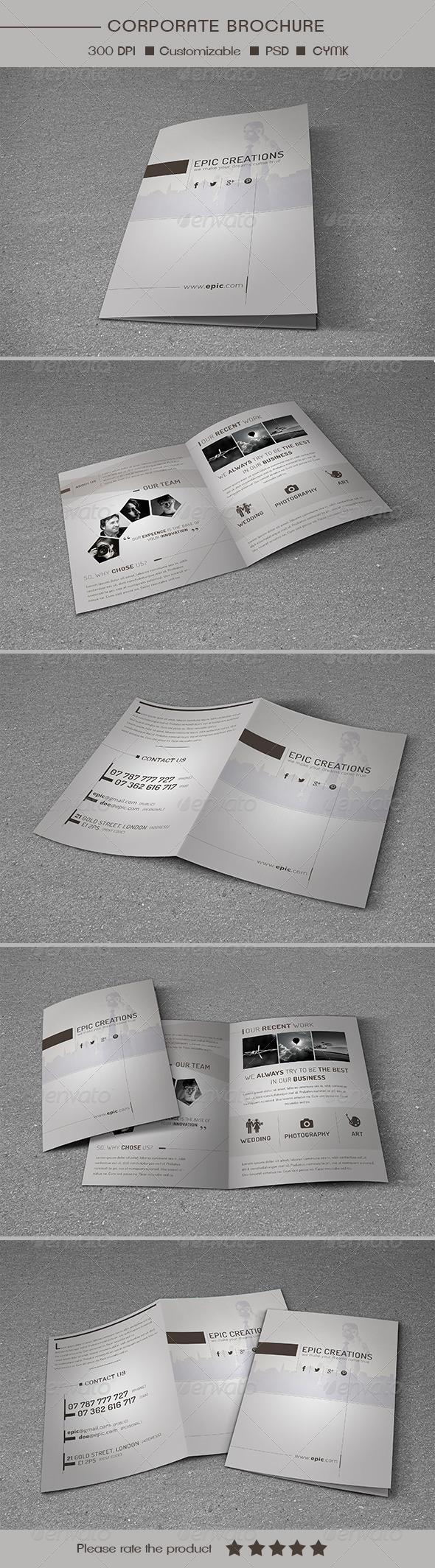 Bifold Multipurpose Brochure Template - Brochures Print Templates