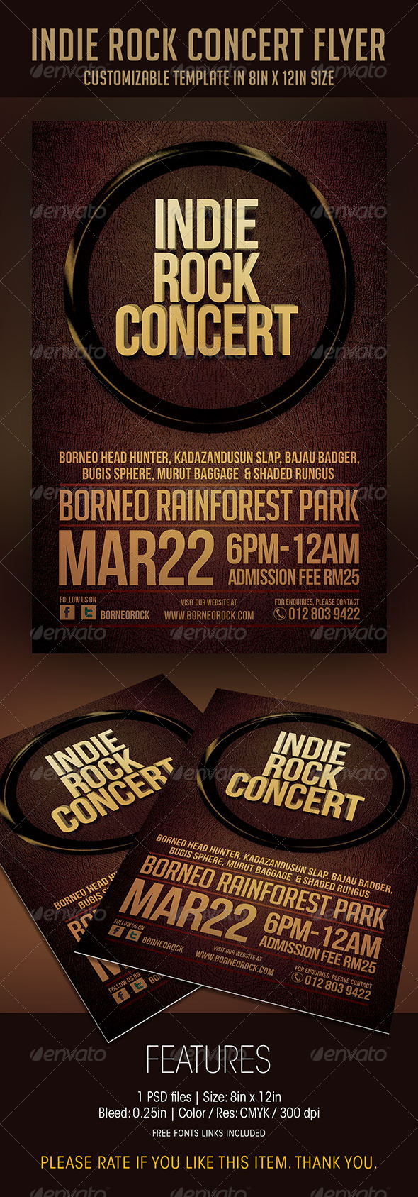 Indie Rock Concert Flyer - Concerts Events