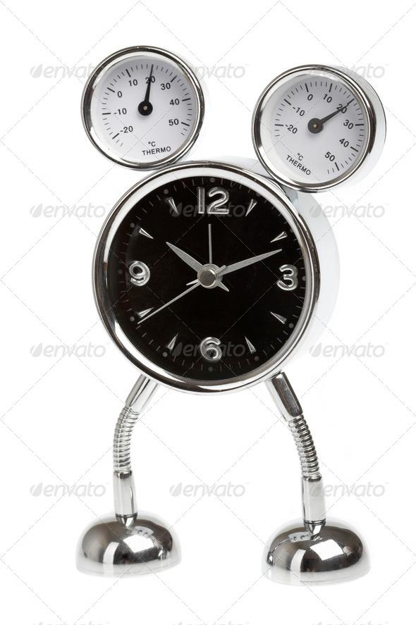 Metal alarm-clock - Stock Photo - Images