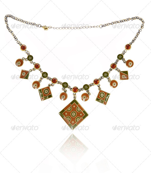 Beautiful necklace - Stock Photo - Images