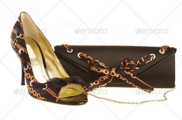 Female shoes and handbag - Stock Photo - Images