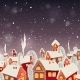 Christmas Background with Houses - GraphicRiver Item for Sale