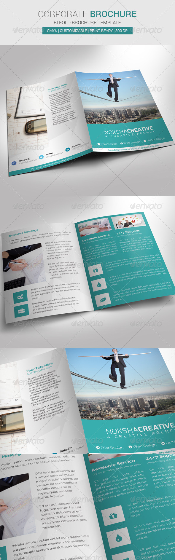 Corporate Bi Fold Brochure - Corporate Brochures