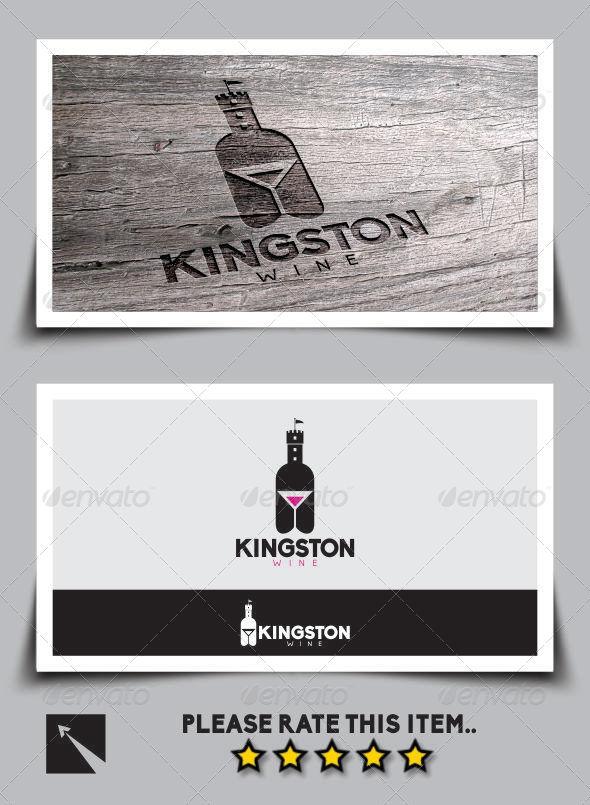 Kingston Wine Logo Template - Logo Templates