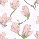 Pattern with Pink Magnolia Flowers  - GraphicRiver Item for Sale