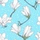 Vintage Pattern with Magnolia Flowers - GraphicRiver Item for Sale