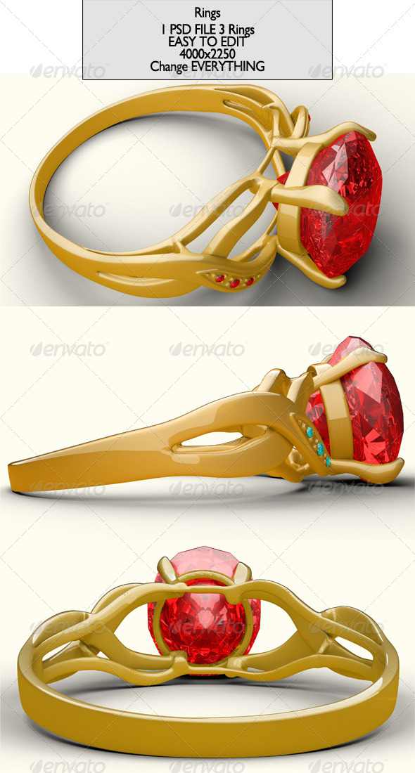 Ring Project File - Objects 3D Renders