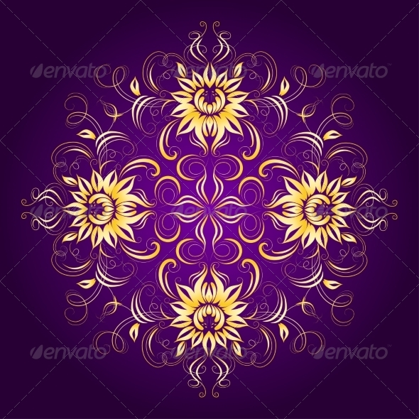 Filigree Background with Lace Ornament - Patterns Decorative