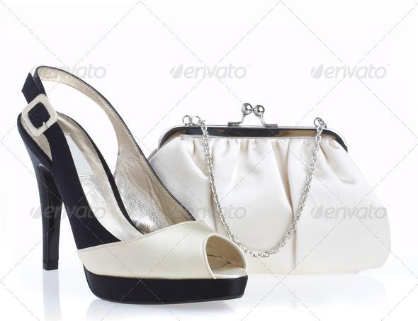 Female shoes and handbag - Stock Photo - Images