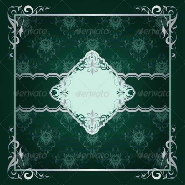 Royal Frame Green Background - Backgrounds Decorative