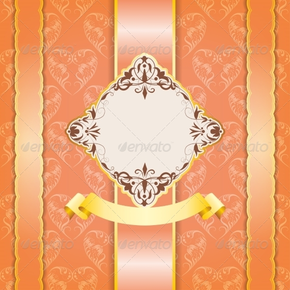 Vintage Frame Design for Greeting Card - Backgrounds Decorative