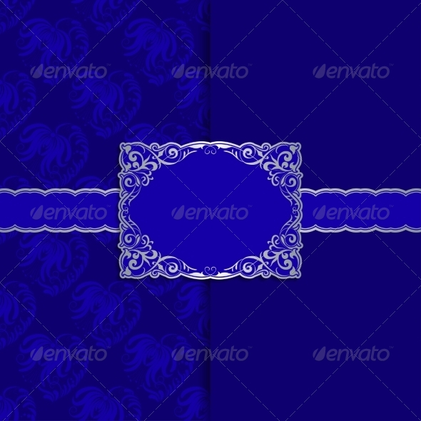 Vintage Template Frame Design for Greeting Card - Backgrounds Decorative