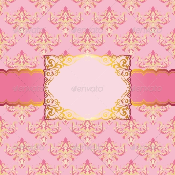 Template for Invitation in Vintage Style - Backgrounds Decorative