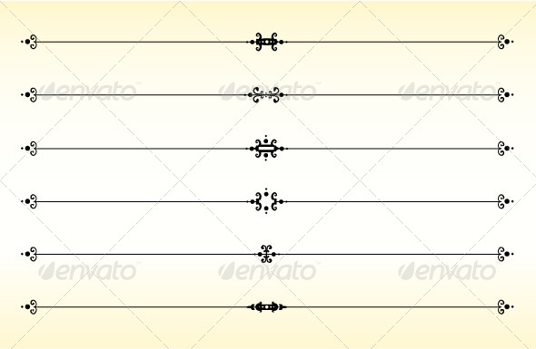 Line Dividers - Borders Decorative