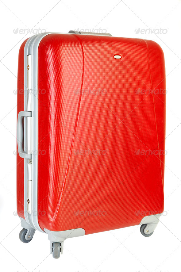 Red suitcase - Stock Photo - Images