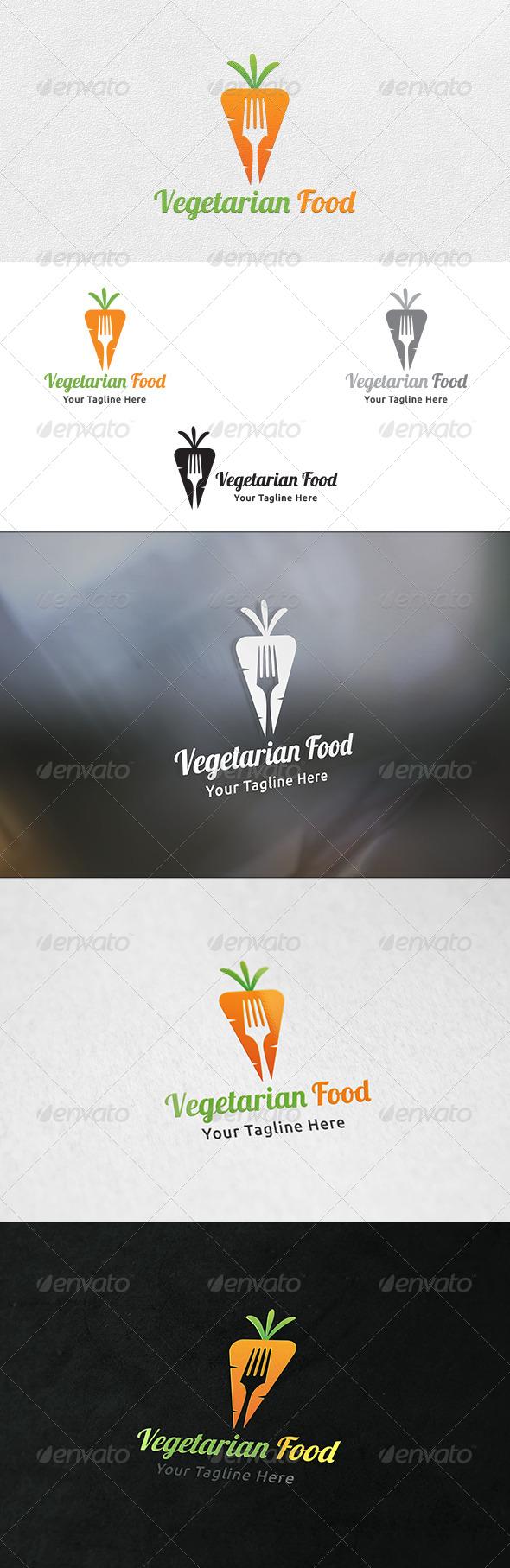 Vegetarian Food - Logo Template - Food Logo Templates