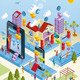Wireless City in Isometric View - GraphicRiver Item for Sale