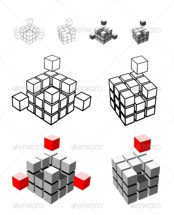 Cube Illustration - Abstract Conceptual