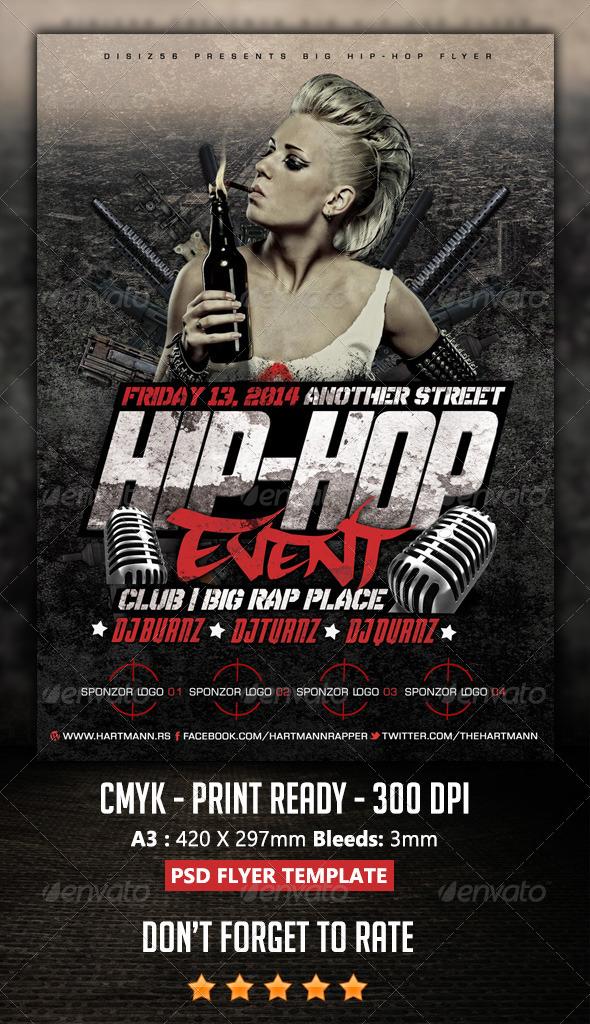 HipHop Flyer by Hartmanns – Hip Hop Flyer Template