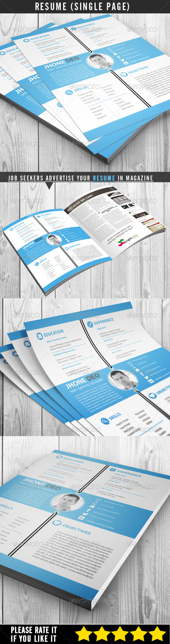 Resume (Single Page) - Resumes Stationery