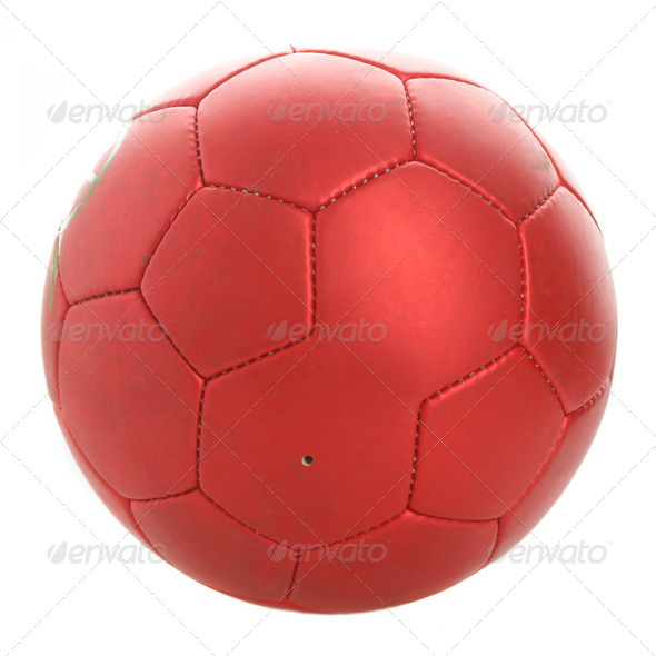 Red football - Stock Photo - Images