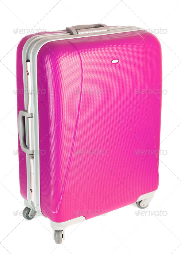 pink suitcase - Stock Photo - Images