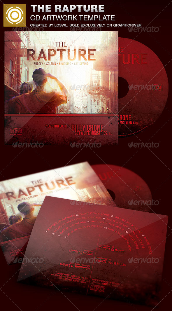 The Rapture CD Artwork Template - CD & DVD Artwork Print Templates