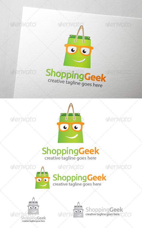 Shopping Geek Logo - Humans Logo Templates