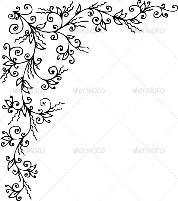 Floral Vignette CCCXXXVI - Decorative Symbols Decorative